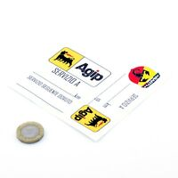 Agip Abarth Service Stickers Abarth Servizio Vinyl Decals 100mm x2