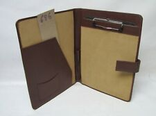 A4  Real Leather brown folder with clipboard fitted (style 686)