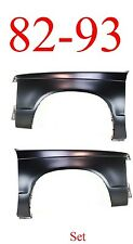 82 93 Chevy S10 Fender Panel Set, GMC, Rust Repair, 1.2MM Thick Both Sides!!