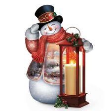 Thomas Kinkade Bradford Exchange Winter Welcome Table top Snowman
