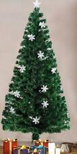 6ft Green Fiber Optic Christmas Tree Xmas  Decoration Multi Effects Snow Flakes
