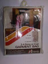 Vintage Richards Garment Bag Clear Nos New
