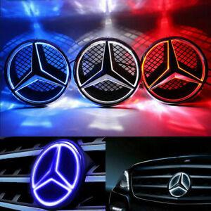 Auto Frontgrill Stern Emblem LED DRL Licht für Mercedes-Benz beleuchtet 06-13