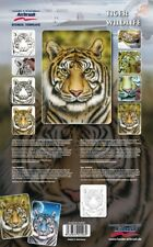 "Harder and Steenbeck Airbrushing stencil set ""Tiger Wildlife"""