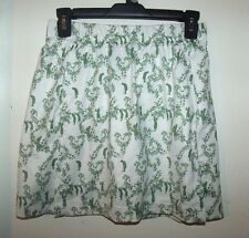 Nike Golf Fit Dry Mesh Lined White Green Floral Golfers Skirt Skort XS 0 2