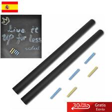 Pizarra adhesiva de pared 0,6 x 2 m 2 rollos Tizas Pegatina Pared Pintar Negro