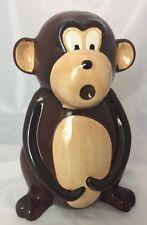 "Vintage Ceramic Monkey Cookie Jar Tropical~12.5"" (EUC)"
