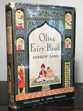 ANDREW LANG - OLIVE FAIRY BOOK 1949 HC/DJ, Illust. Anne Vaughan, Excellent Cond.