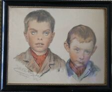 ANTIQUE DANISH IMPRESSIONIST PEDER SEVERIN KRØYER (KROYER) PICTURE BOYS