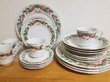 20 Piece Sango Noel 1990 pattern # 8401 China Dish Set