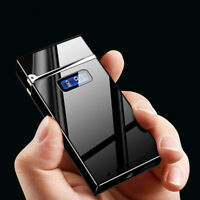 LED Power Display USB Charging Cigarette Lighter Windproof Arc Plasma lighters
