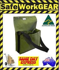 Canvas Tool Gear Work Storage shoulder  Crib Heavy Duty Bag Green Aussie Made
