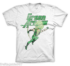 GREEN ARROW Distressed  T-Shirt  camiseta cotton officially licensed