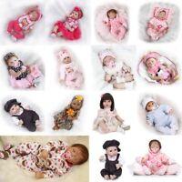 """18/22""""  Realistic Newborn Baby Doll Reborn Soft Girl Boy Handmade Silicone Gift"""