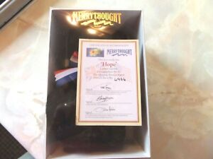 "MERRYTHOUGHT  ""HOPE"" BLACK BEAR WITH CERTIFICATE AND BOX"