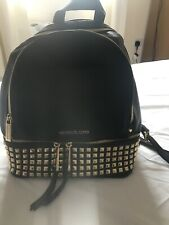 Michael Kors RHEA  medium Stud Back Pack Women's - Black Gold Stud