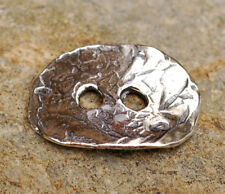 Artisan Sterling Silver Two-Hole Button, B-104
