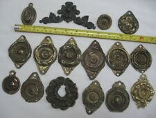 Antique mid 1800's Ornate Brass Bed Bolt Covers free shipping