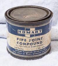 Vintage Homart Pipe Joint Compound Can Packaging Advertising mv