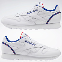 Reebok Classic Leather Shoes White| Red Trainers