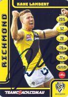 ✺Signed✺ 2017 RICHMOND TIGERS AFL Premiers Card KANE LAMBERT