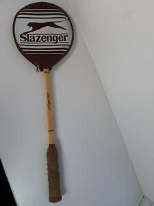 Vintage Slazenger The Whippet Wooden Squash Racket + Cover