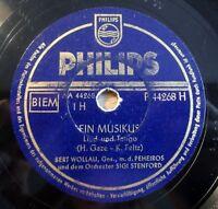 "Bert Wollau - Ein Musikus - Abendglocken-Tango - Philips - /10"" 78 RPM"