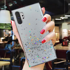 F Samsung Galaxy S20 Note 10 Plus S10+ Bling Glitter Clear Cute Phone Case Cover