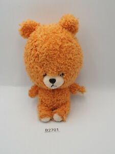 """Tiny Twin Bear B2701 Orange Sekiguchi Bandai Plush 6"""" Stuffed Toy Doll Japan"""