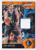 2019-20 Panini Prizm Sensational Swatches Prizms Orange Ice Dirk Nowitzki Jersey