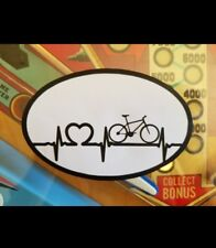 BICYCLE TRIATHALON HEARTBEAT OVAL VINYL DECAL