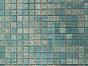 Bisazza MOSAICO/COLORS/VELOURS Tiles Turquoise Mosaic Tiles £96m2 (15 Sheets)