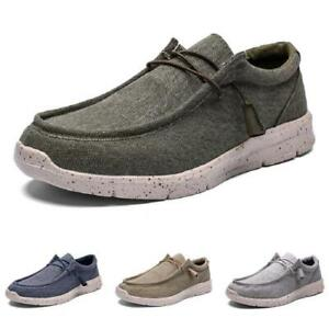 39-48 Men's Low Top Canvas Loafers Shoes Slip on Driving Moccasins Breathable D