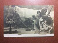 Tsarist Russia postcard 1905s Egypt Slave Market. Nude Boy. Women for a harem