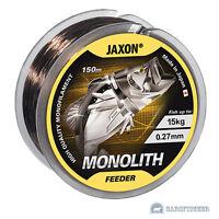 150m ANGELSCHNUR JAXON MONOLITH FEEDER, MONOFILE SCHNUR, FEEDER FISHING LINE NEU