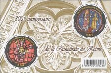France 2011 Reims Cathedral/Stained Glass/Art/Window/Royalty 2v m/s (n45399)