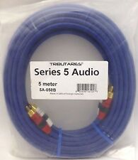 Tributaries Series 5 RCA Audio Interconnect Cables  5 meter pair 5A-050B
