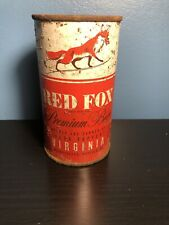 RED FOX FLAT TOP BEER CAN