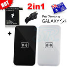 QI Wireless Charger Charging Pad + Receiver For Samsung Galaxy S5 G900