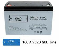12v 100ah GEL batteria solare Batteria Accumulatore-Solar UPS BARCA CAMPER CARAVAN c20