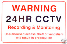 CCTV Warning Sign - 24HR Recording & Monitoring - Security Cameras Warning Sign