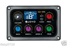 JOYO EQ-505 5 Band EQ Acoustic Guitar Piezo EQ Pickup tuner with tuning function