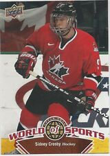 Sidney Crosby 2010 Upper Deck World Of Sports SP Card # 304 Pittsburgh Penguins