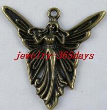18pcs Bronze Color Cute Angell Charms Pendants 39x37x3mm 8088/1