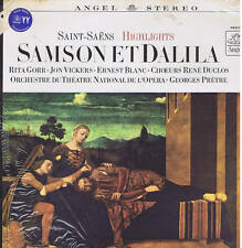 Saint-Saens SAMSON ET DALILA Gorr Vickers Blanc Pretre -  LP ANGEL sealed