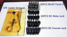 Siamese Cable Kit for 10Camera(20x BNC Twist-on, 20x Power connector,1xStripper)