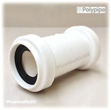 "Polypipe 32 mm 1-1/4 ""Universal Push Fit rifiuti TUBO accoppiatore connettore uwc32 BIANCO"
