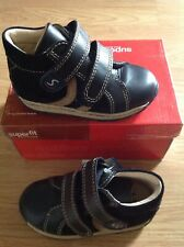 Superfit 112-83 Boys navy blue Hook & Loop boots Size 22 Approx 5