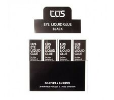 LUS Black Eye Liquid Glue for Eyelashes and Double Eyelid 20 pcs with Display