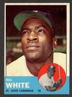 1963 Topps Baseball #290 Bill White St. Louis Cardinals - 4th Series